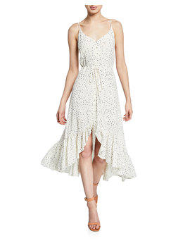 Frida Speckled Midi Flounce Dress by Rails
