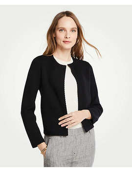 Petite Stitched Open Jacket by Ann Taylor