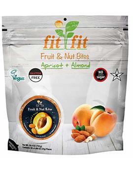 Fit Fit   Apricot & Almond Healthy Fruit & Nut Bites. Vegan. Gluten Free   (30 Discs Per Bag) by Wild & Raw