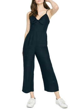 Take Away Tie Front Wide Leg Crop Jumpsuit by Sanctuary