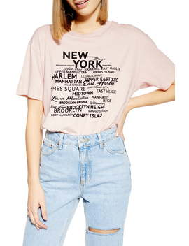 New York Graphic Tee by Topshop