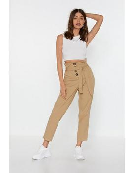 Button In Paperbag Pants by Nasty Gal