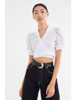 Tach Clothing Celeste Puff Sleeve Cropped Top by Tach Clothing