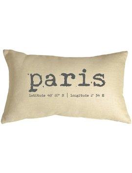 Briones Paris Coordinates Linen Lumbar Pillow by One Allium Way