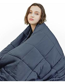 Yn M Weighted Blanket (22 Lbs, 60''x80'', Queen Size) | 2.0 Heavy Blanket | 100 Percents Cotton Material With Glass Beads by Yn M