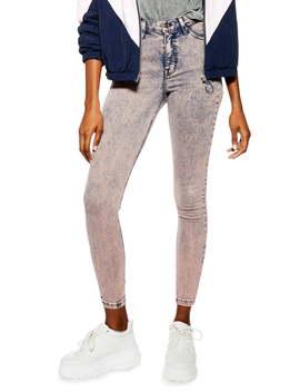 Jamie Acid Wash Jeans by Topshop
