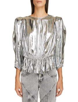 Metallic Silk Reversible Top by Isabel Marant