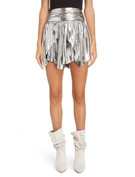 Layered Metallic Silk Skirt by Isabel Marant