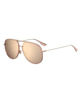 Aviator Cutout Metal Sunglasses by Dior