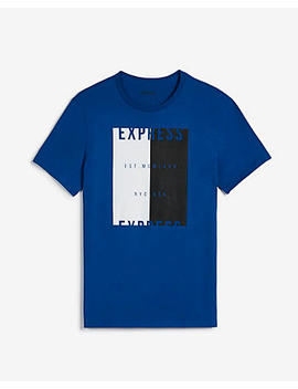 Express Nyc Two Toned Graphic Tee by Express