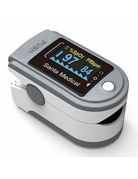 Santamedical Generation 2 Sm 165 Fingertip Pulse Oximeter Oximetry Blood Oxygen Saturation Monitor With Carrying Case, Batteries And Lanyard by Santamedical