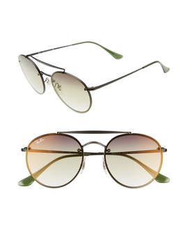 54mm Polarized Gradient Round Sunglasses by Ray Ban
