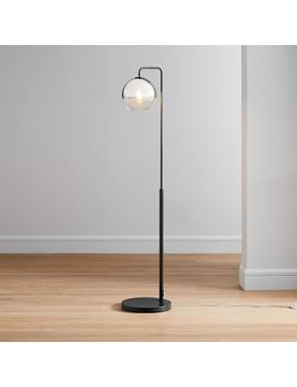 Sculptural Glass Globe Floor Lamp   Small (Ombre) by West Elm