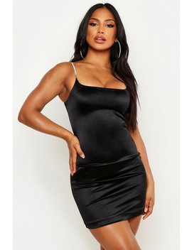 Diamante Strap Bodycon Mini Dress by Boohoo