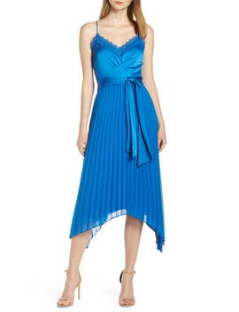 Pleated Tie Front Dress by Harlyn