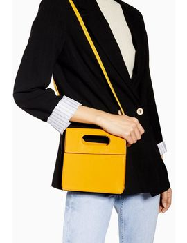 Gem Yellow Flap Handle Grab Bag by Topshop