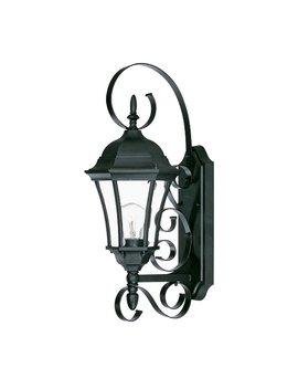 Prangins 1 Light Glass Shade Outdoor Wall Lantern by Astoria Grand