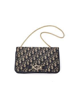 Authentic Christian Dior Vintage  Trotter Navy Shoulder Bag by Etsy