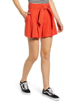 High Waist Linen Blend Shorts by Bp.