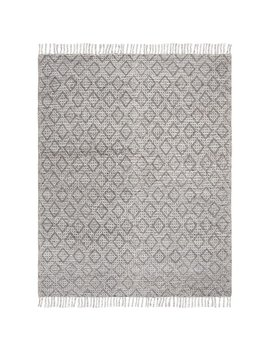 Jacques Handwoven Wool Gray/Black Area Rug by Union Rustic