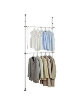 Wenko Kerkules 2 Tier Telescopic Basic Closet Organization System by Bed Bath And Beyond