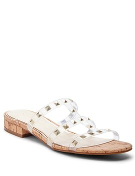 Caira2 Studded Clear & Cork Sandals by Jessica Simpson