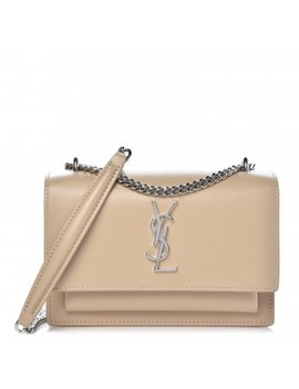 Saint Laurent Calfskin Monogram Sunset Chain Wallet Nude Powder by Yves Saint Laurent