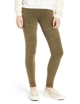 Washed Moto Leggings (Regular & Plus Size) by Bp.
