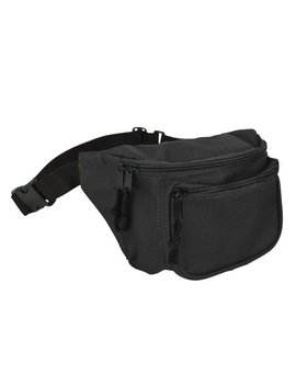 Dalix Fanny Pack W/ 3 Pockets Traveling Belt Pouch Waist Wallet Concealer Black by Dalix