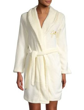 Logo Embroidery Short Robe by Juicy Couture