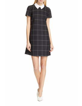 Kalice Windowpane A Line Dress by Hugo