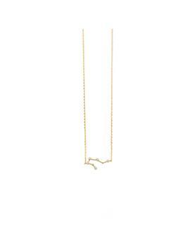Aquarius Zodiac Gold Necklace by Wanderlust + Co
