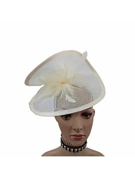 Abpf Big Round Bow Eye Catching Sinamay Fascinator Headband Hats Racing Derby Hat by Abpf