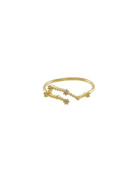 Aquarius Zodiac Gold Ring by Wanderlust + Co