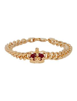 Gold Crown Bracelet by Dolce & Gabbana