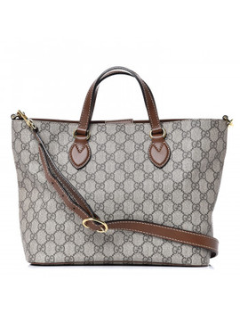 Gucci Gg Supreme Monogram Small Soft Tote Brown by Gucci