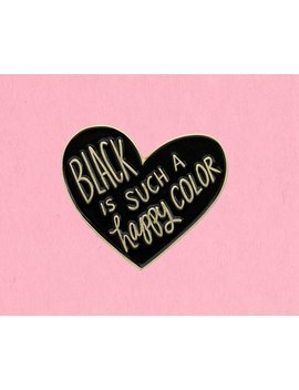 Black Is Such A Happy Color Addams Family Enamel Lapel Pin by Etsy