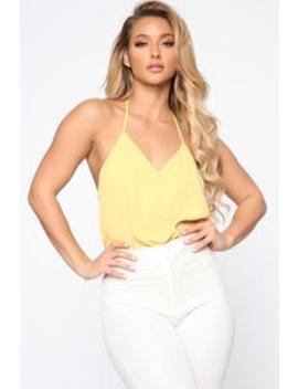 Audra Top   Yellow by Fashion Nova
