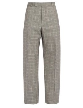 Houndstooth Wool Trousers by Thom Browne
