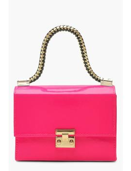 Twisted Handle Neon Mini Grab Bag by Boohoo