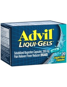Advil Liqui Gels (20 Count) Pain Reliever / Fever Reducer Liquid Filled Capsule, 200mg Ibuprofen, Temporary Pain Relief by Advil