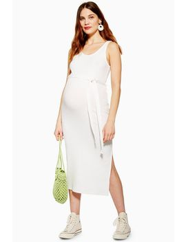 **Maternity Belted Midi Dress by Topshop