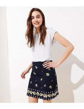 Embroidered Shift Skirt by Loft