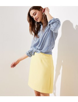 Textured Shift Skirt by Loft