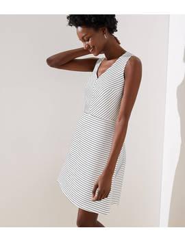 Chevron Stripe Flare Dress by Loft