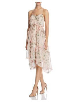 Tiered Floral Halter Dress   100 Percents Exclusive by Aqua