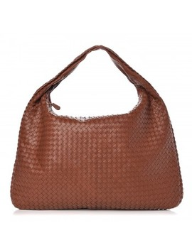 Bottega Veneta Nappa Intrecciato Maxi Veneta Hobo Tea by Bottega Veneta