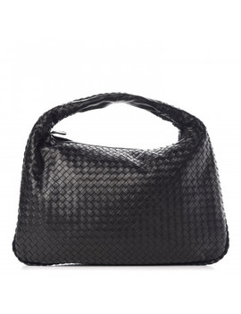 Bottega Veneta Nappa Intrecciato Large Veneta Hobo Black by Bottega Veneta