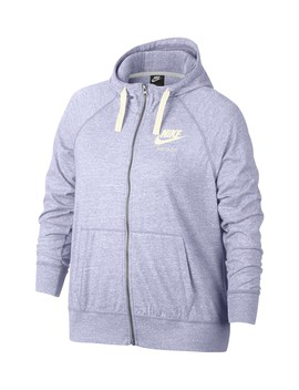 Gym Vintage Full Zip Hoodie (Plus Size) by Nike