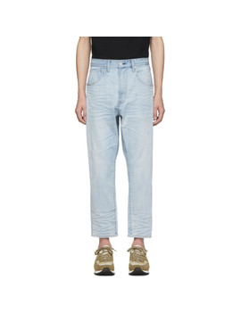Blue Drop Crotch Jeans by Wheir Bobson